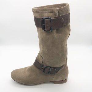 New Marc Fisher suede buckle boots 5.5